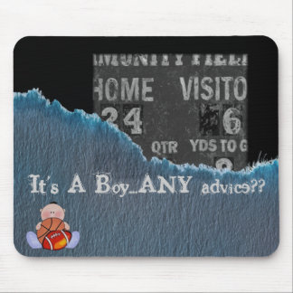 Boy-baby shower mouse pad