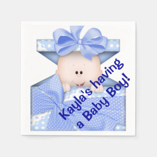 Boy Baby Shower Paper Napkins