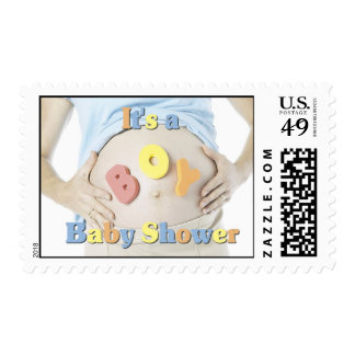 Boy Baby Shower postage stamps