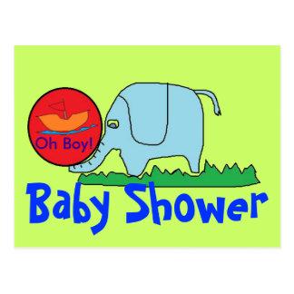 Boy baby shower postcard