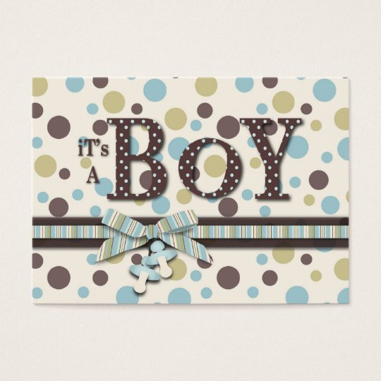 Boy Baby Shower Reminder Card