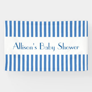 BOY Baby Shower Stripes Choose Your Color A01 Banner