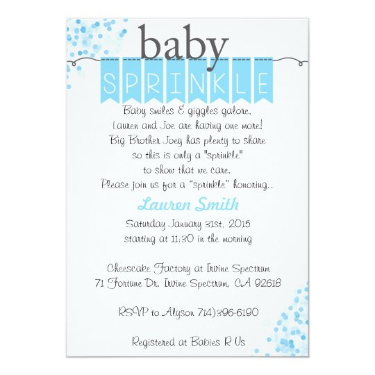 boy baby sprinkle invitations blue baby sprinkle zazzle com