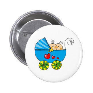 Boy baby twins pinback buttons