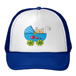 Boy baby twins trucker hat