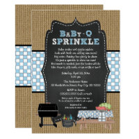 BOY BabyQ Sprinkle, BBQ Baby Shower, BABY Q Card