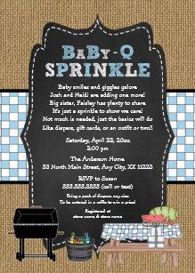 baby q invitations zazzle