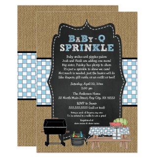 BOY BabyQ Sprinkle, BBQ Baby Shower, BABY Q Invitation