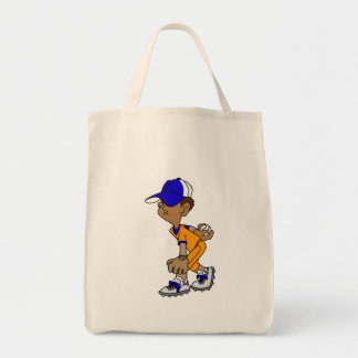 Boy Ball Player Tote Bag