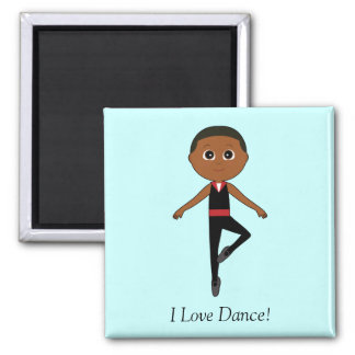 Boy Ballet Dancer I Love Dance Fridge Magnets