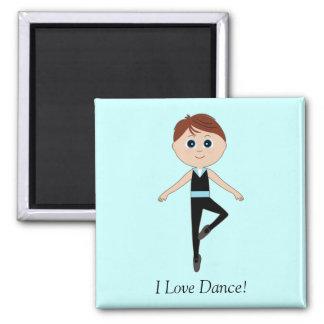 Boy Ballet Dancer I Love Dance Refrigerator Magnet