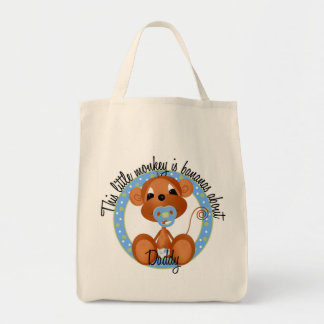 Boy Bananas About Daddy Tshirts and Gifts Tote Bag