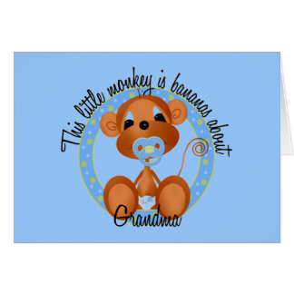 Boy - Bananas About Grandma Tshirts and Gifts Greeting Cards