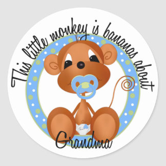 Boy - Bananas About Grandma Tshirts and Gifts Stickers