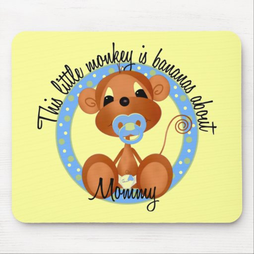 Boy - Bananas About Mommy Tshirts and Gifts Mousepads