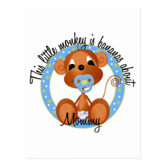 Boy - Bananas About Mommy Tshirts and Gifts Postcard
