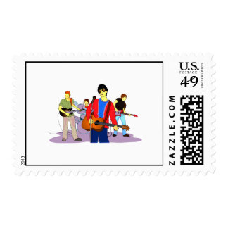 Boy Band Graphic Image Stamps