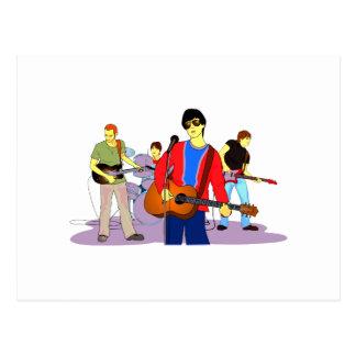 Boy Band Graphic Image Postcard