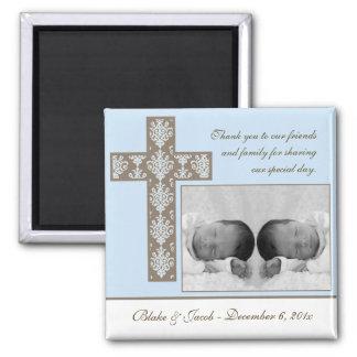 Boy Baptism/Christening Favor - Photo Magnet