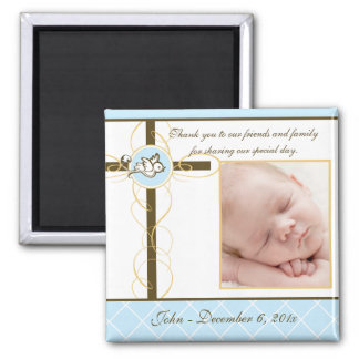 Boy Baptism/Christening Favor - Photo Magnet