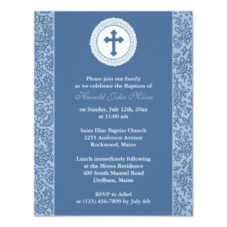 Boy Baptism Invitation