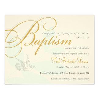 "Boy Baptism Invitation 4.25"" X 5.5"" Invitation Card"