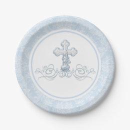 Boy Baptism Paper Plates Boy Baptism Paper Plates  sc 1 st  Zazzle & Boys First Communion Plates | Zazzle