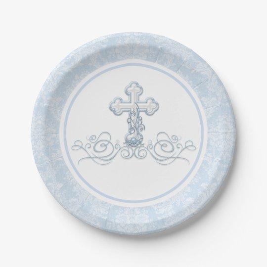 Boy Baptism Paper Plates  sc 1 st  Zazzle & Boy Baptism Paper Plates | Zazzle.com