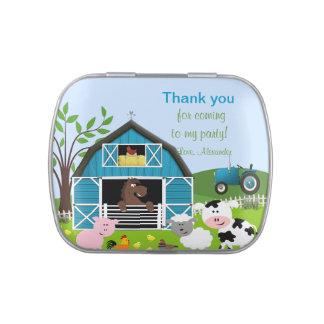 Boy Barnyard Farm Animals Birthday Candy Tin