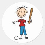 Boy Baseball Player Sticker