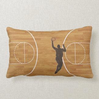 Boy Basketball Court Lumbar Throw Pillow Throw Pillow