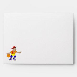 Boy basketball player envelope