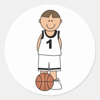 Boy Basketball Player Stickers