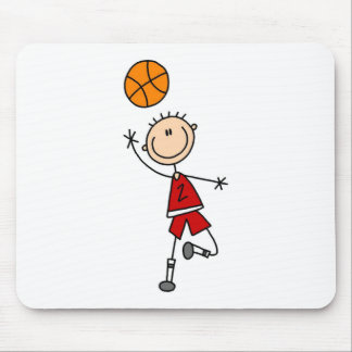 Boy Basketball Player Tshirts and Gifts Mouse Pad