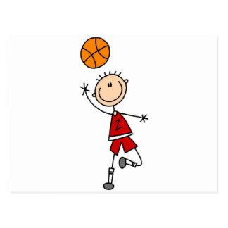 Boy Basketball Player Tshirts and Gifts Postcard