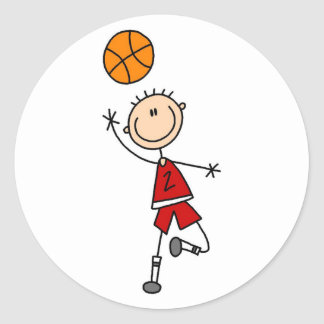 Boy Basketball Player Tshirts and Gifts Stickers