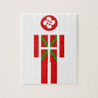 Boy Basque Euskadi flag Jigsaw Puzzle
