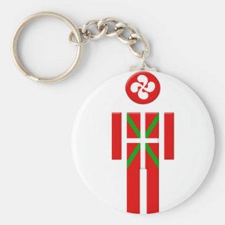 Boy Basque Euskadi flag Keychain
