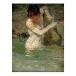 Boy Bathing by Henry Scott Tuke Postcard
