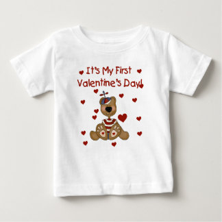 Boy Bear 1st Valentine's Day Baby T-Shirt