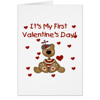 Boy Bear 1st Valentine's Day Tshirts and Gifts Card