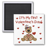 Boy Bear 1st Valentine's Day Tshirts and Gifts Fridge Magnets