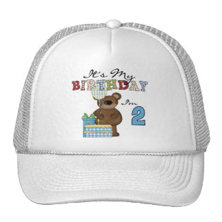 Boy Bear 2nd Birthday T-shirts and Gifts Trucker Hat