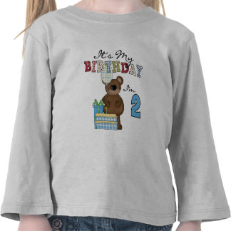Boy Bear 2nd Birthday T-shirts and Gifts