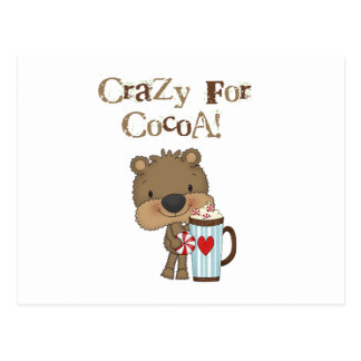 Boy Bear Crazy For Cocoa Holiday Post Card