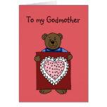 boy bear holding valentine for godmother card