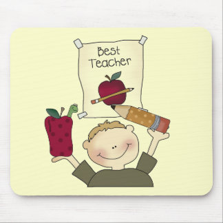 Boy Best Teacher Tshirts and Gifts Mouse Pad