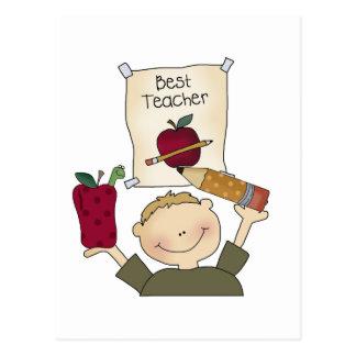 Boy Best Teacher Tshirts and Gifts Postcard