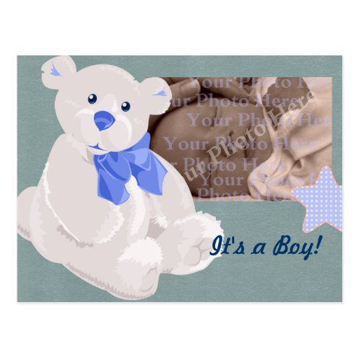 Boy Birth Announcement Postcard