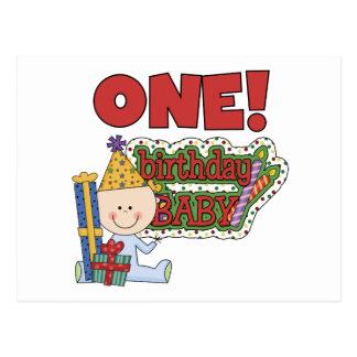 Boy Birthday Baby 1st Birthday Tshirts and Gifts Postcard
